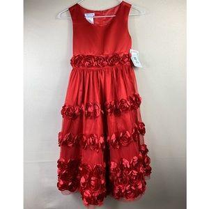💫Bonnie Jean | red floral Dress